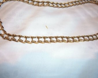 """17"""" of Vintage Brass Ladder Chain as Was Used on Old Hanging Oil Lamps"""