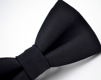 Mens Black Bow Tie