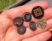 Fancy Victorian Buttons, lot of 6