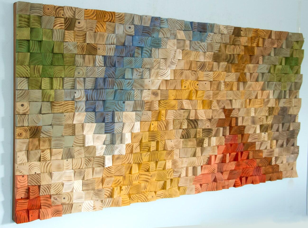 Large Wood Wall Art Sale 2017 Colour Trends Geometric Art