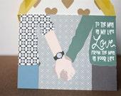Man In My Life - Valentines Card, Boy Met Boy, Gay, Same Love Card