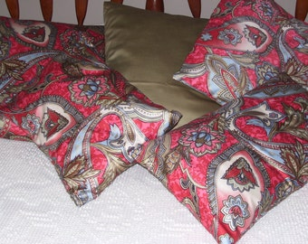 Set of Five Pillow Covers - One Solid, Four Print