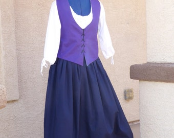 3 Piece Set, Chemise, Petticoat, Bodice. Renaissance / Colonial / Reenactment /  Civil war / Pioneer /
