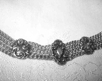 Antique Victorian 20s Art Nouveau Sterling Bracelet