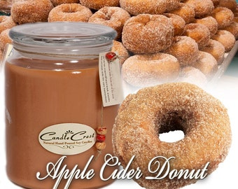Apple Cider Donuts _ Fall Candles - Scented Candles- Soy Candles -Eco Friendly - 100% Soy Wax