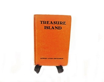 Antique Book, 1930s Treasure Island, Robert Louis Stevenson, Goldsmith Publishing, Literary Classic, Classical Literature, Childrens Story