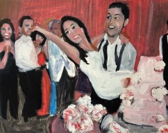 Alex Got Married    Original Oil Painting by Marlene Kurland 11 x 14
