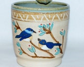 Handmade Pottery Mug / Blue Bird