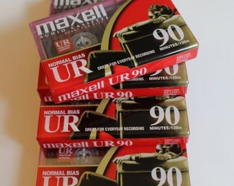 Maxell Blank Audio Recording Cassette UR 90 Blank Tapes Mix Tapes