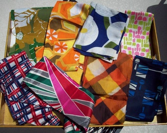 LOT of Vintage Head/Neck/Hair Scarves