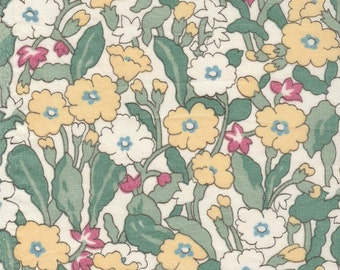 "Vintage Liberty Tana Lawn fabric PRIMROSE - 34"" (87cm) wide x 6"" (15cm) increments"