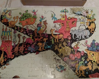 1973 Dr Seuss The Great Traffic Jam Puzzle