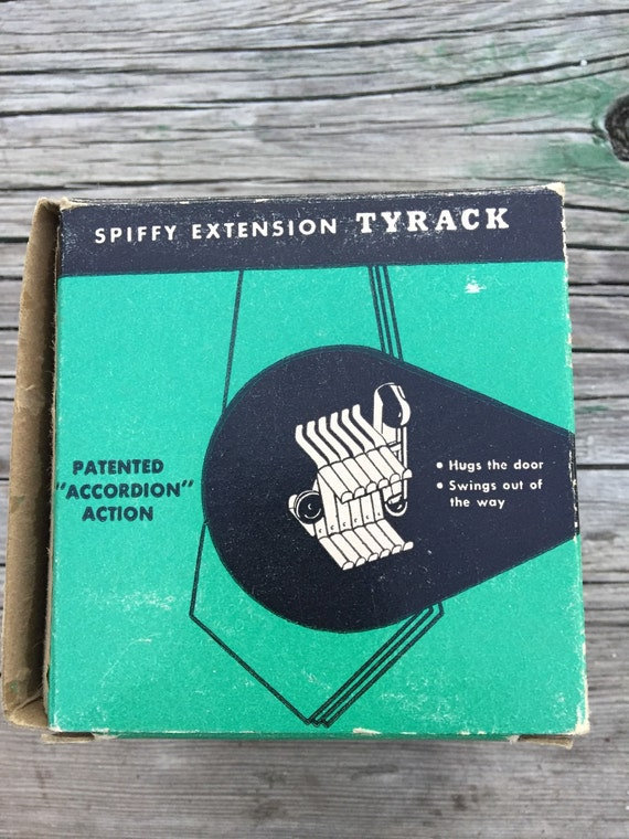 Vintage NOS Spiffy Extension Tyrack Tie Holder in Original Box