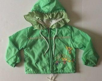 Vintage Gingham Ruffle Bird Jacket (12 months)