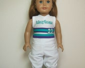 "Custom Detailed 18"" Doll Softball Baseball Miniature Uniform Set"