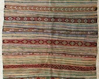 "240x165  cm ( 7.9"" x 5.4"") FREE SHIPPING worldwide KL27617 vintage berber kilim rug, flat rug, moroccan rugs , rag rug,morocco carpets"
