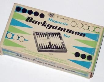 Vintage Chadwick-Miller Magnetic Travel Backgammon Game