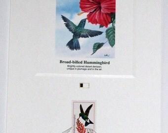 Fleetwood National Audubon Society Don Balke North American Hummingbird Stamp Proof Cards