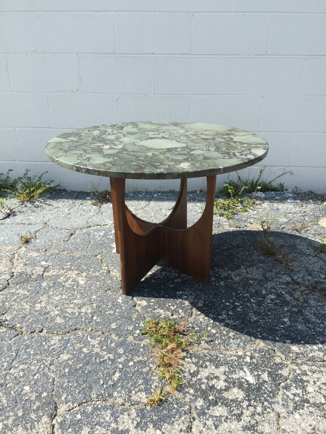 Adrian Pearsall Marble Top Round Side Accent Table