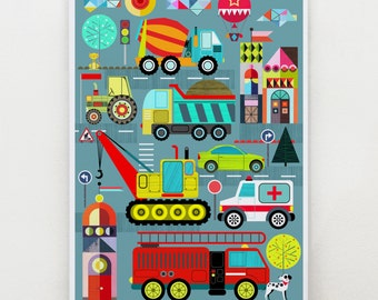 Transportation, art print