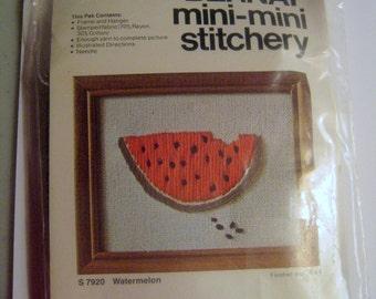 Vintage Bernat Mini-Mini Stitchery Embroidery Watermelon S7920