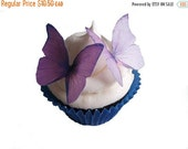 SALE Cake Cupcake Toppers SPRING Cake Ideas  - Edible Butterflies in 24 Purple and Lavender - Wedding Cupcake, Cupcake Supplies, Cupcake Sho