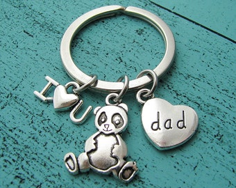 fathers day gift, I love you dad keychain, daddy bear fathers day, dad gift from kids, gift for dad, birthday gift, papa bear keychain