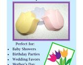 10 Tulip Soap Favors, Flower Garden Party, Floral Favors, Baby Shower Favor, Bridal Favor, Flower Party Favor