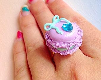 Macaron Ring - Kawaii, Pastels, Cake, Sweet Lolita, Polymer Clay, Macaroon