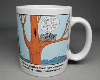 gary larson far side mug squirrels and nuts 1993