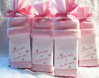 Personalized Baby Shower Favors - Baby Shower Favor - Custom Baby Shower Favors - Baby Reveal Idea - boy or girl baby bars!