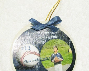 Remembrance Ornament - Forever In My Heart Ornament - Personalized Ornament - Bereavement Ornament - Christmas in Heaven Ornament