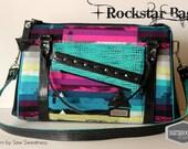 Rockstar Bag in Avantgarde Steps Above in Moonbow Rainbow purse Handbag tote glitter vinyl handmade Rock Star Sew Sweetness