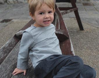 Boys breton shirt | Sailer shirt | Boat neck boy shirt | French style children shirt | linen boys wedding outfit