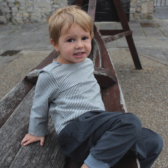 Boys breton shirt | Sailer shirt | Boat neck boy shirt | French style children shirt | linen boys wedding outfit