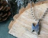 The Maker - small brass antiqued anvil medallion