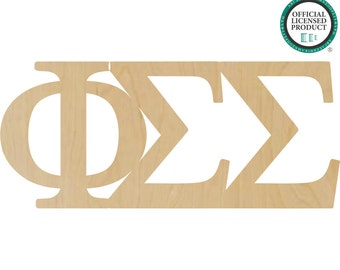 Phi Sigma Sigma Greek Letters Connected - Sorority Letters, Phi Sigma Sigma Letters, Phi Greek Letters, Sigma Greek Letters, Phi Sigma Greek