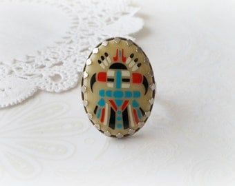 Silver Aztec Ring