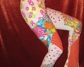 Multi-Colored Patchwork Flared Leg Stretch Fabric Yoga, Dance, Lounge Pant
