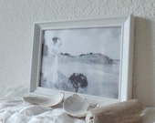 BESIDE QUIET WATERS Framed Print Seawashed Living Nordic Coastal Sea Cottage Beach Home Seaside Quiet Living