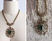 1970s Green Stellar Necklace