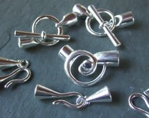 8 piece glue in end cone and clasp 6mm CLOSEOUT