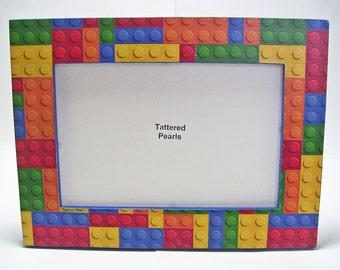 Building Blocks Frame Decoupaged