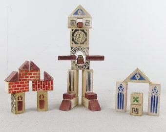 antique building blocks,architecture set,vintage construction set,art deco,cast stone blocks,RALITE STONE BLOCKS,Ralo toy co. circa 1920
