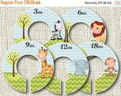 15% OFF SALE Baby Closet Dividers - Safari Babies