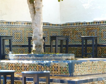 Moroccan photography - 4x6 photo print - moroccan cafe - mosaic - North Africa - travel photography