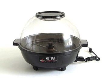 West Bend Stir Crazy Popcorn Popper, Model 82306X, High Dome Lid, Made in USA, 1990s Kitchen Small Appliances