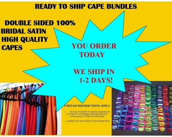 FAST SHIPPING CAPES For Kids ages 0-6 yrs Double Sided Reversible