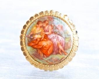 Rococo Ladies Scarf Clip - Collar Clip - Vintage Jewelry