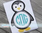 Made for Monogram Winter Penguin Appliqué Design Machine Embroidery INSTANT DOWNLOAD